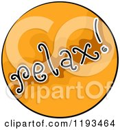 Cartoon Of A Relax Orange Circle Wellness Icon Royalty Free Vector Clipart