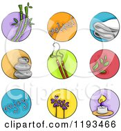 Cartoon Of Wellness Spa Icons Royalty Free Vector Clipart