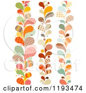 Cartoon Of Patterned Paisly Splash Vertical Borders Royalty Free Vector Clipart