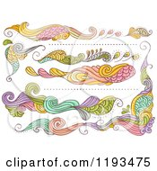 Cartoon Of Whimsy Website Design Elements Royalty Free Vector Clipart