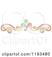 Cartoon Of A Whimsy Paisly Border 2 Royalty Free Vector Clipart