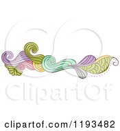 Cartoon Of A Whimsy Website Border 4 Royalty Free Vector Clipart