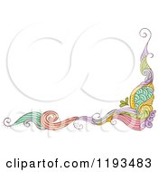 Cartoon Of A Whimsy Corner Border Royalty Free Vector Clipart