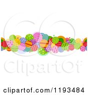 Cartoon Of A Colorful Patterned Circle Border Royalty Free Vector Clipart by BNP Design Studio