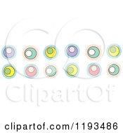 Cartoon Of A Retro Colorful Circle Border Royalty Free Vector Clipart by BNP Design Studio