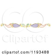 Cartoon Of A Whimsy Paisly Border Royalty Free Vector Clipart