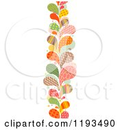 Cartoon Of A Patterned Paisly Splash Vertical Border Royalty Free Vector Clipart