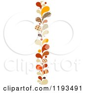 Cartoon Of A Patterned Paisly Splash Vertical Border 2 Royalty Free Vector Clipart