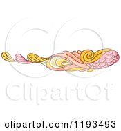 Cartoon Of A Whimsy Website Border 3 Royalty Free Vector Clipart