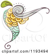 Cartoon Of A Whimsy Corner Border 2 Royalty Free Vector Clipart