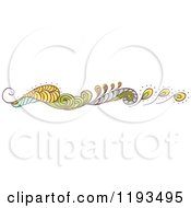 Cartoon Of A Whimsy Website Border 2 Royalty Free Vector Clipart