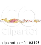 Cartoon Of A Whimsy Website Border Royalty Free Vector Clipart