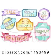 Cartoon Of Colorful Retail Store Product Labels Royalty Free Vector Clipart
