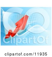 Red Arrow Showing An Increase Of Profit On A Graph Clipart Illustration by AtStockIllustration