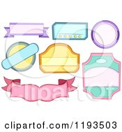 Cartoon Of Colorful Blank Labels Royalty Free Vector Clipart