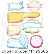 Cartoon Of Colorful Shaped Labels Royalty Free Vector Clipart
