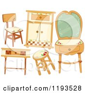 Cartoon Of Country Style Furniture Royalty Free Vector Clipart