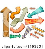 Cartoon Of Colorful Arrows Royalty Free Vector Clipart