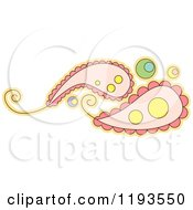 Cartoon Of A Whimsy Paisley Royalty Free Vector Clipart by BNP Design Studio
