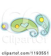 Cartoon Of A Whimsy Paisley With A Heart Royalty Free Vector Clipart