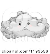 Cartoon Of A Gloomy Cloud Mascot Royalty Free Vector Clipart by BNP Design Studio