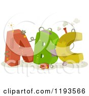 Cartoon Of Colorful Mechanical ABC Letters With Gears And Wires Royalty Free Vector Clipart