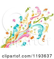 Cartoon Of A Colorful Pop Of Confetti Ribbons Royalty Free Vector Clipart by BNP Design Studio