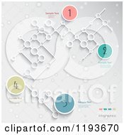 Numbered Infographics Circles And Networked Lattice With Sample Text On Gray