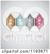 Clipart Of Reflective Website Icon Infographics With Sample Text On Gray Royalty Free Vector Illustration by KJ Pargeter