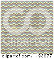 Clipart Of A Pink Yellow Brown And Blue Grunge Chevron Pattern Royalty Free Vector Illustration