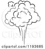 Clipart Of A Black And White Comic Burst Explosion Or Poof 10 Royalty Free Vector Illustration