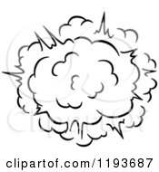 Clipart Of A Black And White Comic Burst Explosion Or Poof 8 Royalty Free Vector Illustration