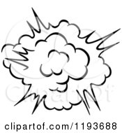Clipart Of A Black And White Comic Burst Explosion Or Poof 7 Royalty Free Vector Illustration