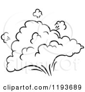 Clipart Of A Black And White Comic Burst Explosion Or Poof 6 Royalty Free Vector Illustration