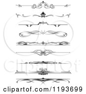 Clipart Of Black And White Page Border Rules Royalty Free Vector Illustration