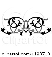 Clipart Of A Black And White Ornate Floral Victorian Design Element 5 Royalty Free Vector Illustration