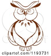 Clipart Of A Brown Owl 6 Royalty Free Vector Illustration by Seamartini Graphics