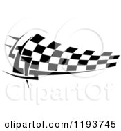Clipart Of A Black And White Checkered Racing Flag Royalty Free Vector Illustration