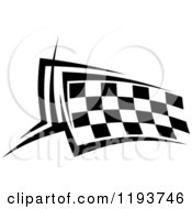 Clipart Of A Black And White Checkered Racing Flag 2 Royalty Free Vector Illustration