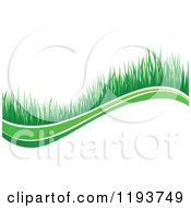 Clipart Of A Green Grass Wave 6 Royalty Free Vector Illustration