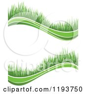 Clipart Of Green Grass Waves 3 Royalty Free Vector Illustration