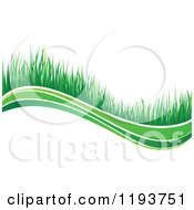 Clipart Of A Green Grass Wave 5 Royalty Free Vector Illustration