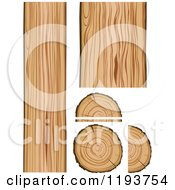 Clipart Of A Wood Boards And Logs Royalty Free Vector Illustration by Vector Tradition SM