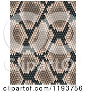 Clipart Of A Brown Snake Skin Texture Royalty Free Vector Illustration by Vector Tradition SM