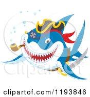 Pirate Shark Smoking A Pipe