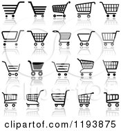 Clipart Of Different Styled Black And White Shopping Cart Website Icons 2 Royalty Free Vector Illustration by dero