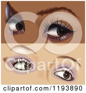 Clipart Of Two Pairs Of Female Eyes With Makeup Royalty Free Vector Illustration by dero