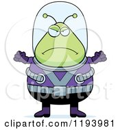 Cartoon Of A Mad Chubby Alien Royalty Free Vector Clipart