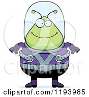 Cartoon Of A Happy Chubby Alien Royalty Free Vector Clipart