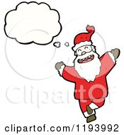 Cartoon Of A Dancing Santa Royalty Free Vector Illustration